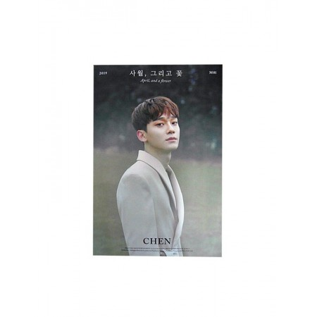 CHEN 1ST MINI ALBUM APRIL AND FLOWER OFFICIAL POSTER