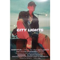 BAEKHYUN 1ST MINI ALBUM CITY LIGHTS OFFICIAL POSTER - PHOTO CONCEPT NIGHT